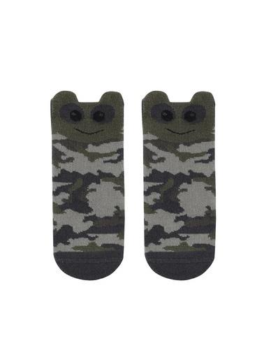 Katia & Bony Askeri Desenli Bebek Soket Çorap  Yeşil